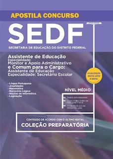 Apostila Concurso SEDF - Secretaria de Educação do DF Assistência à Educação