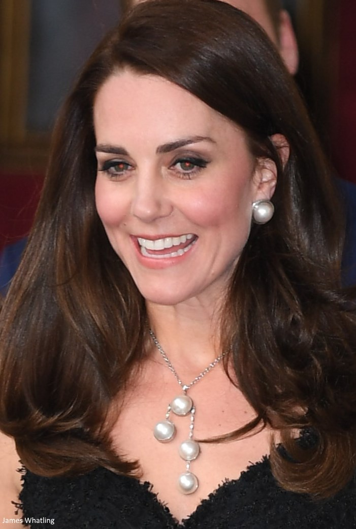 Duchess Kate: Kate's Paris Chic in McQueen Black Dress