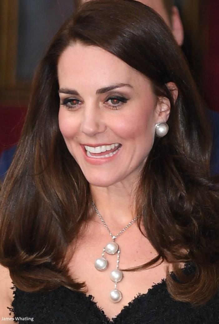 Duchess Kate: Kate's Paris Chic in McQueen Black Dress ...