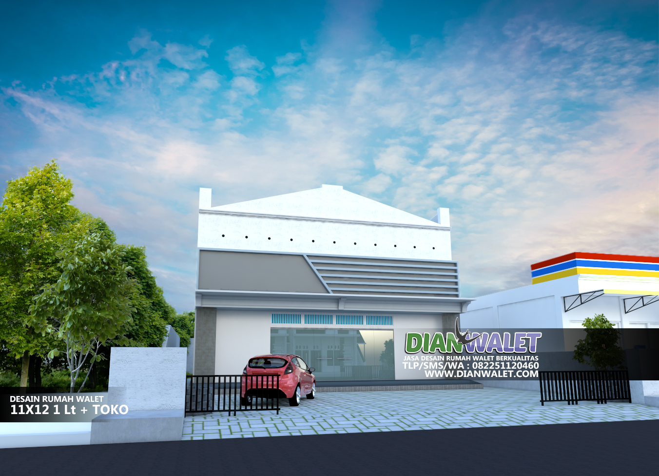 6400 Foto Desain Rumah Tingkat Bawah Toko Paling Keren Download