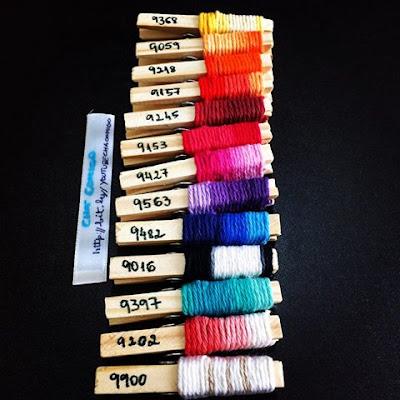 material para tapete de crochê de barbante feito com sobras