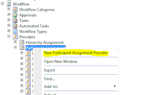 Assignment provider