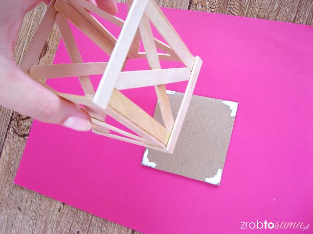 Skandynawska latarenka z drewna zrób to sama DIY