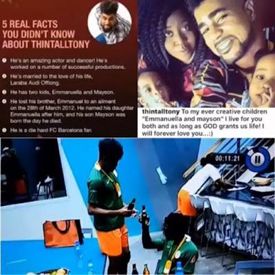 #BBNaija's ThinTallTony Denies His Daughter (Watch Video)