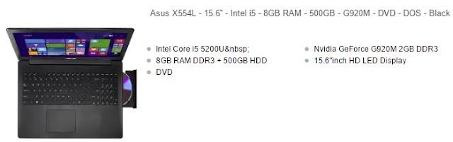 harga laptop asus core i5 x554l hitam
