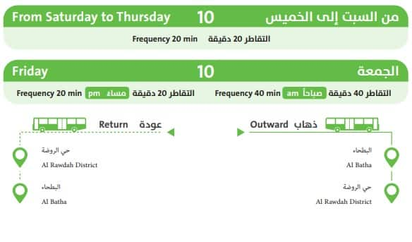 ROUTE 10 OF RIYADH LOCAL BUS