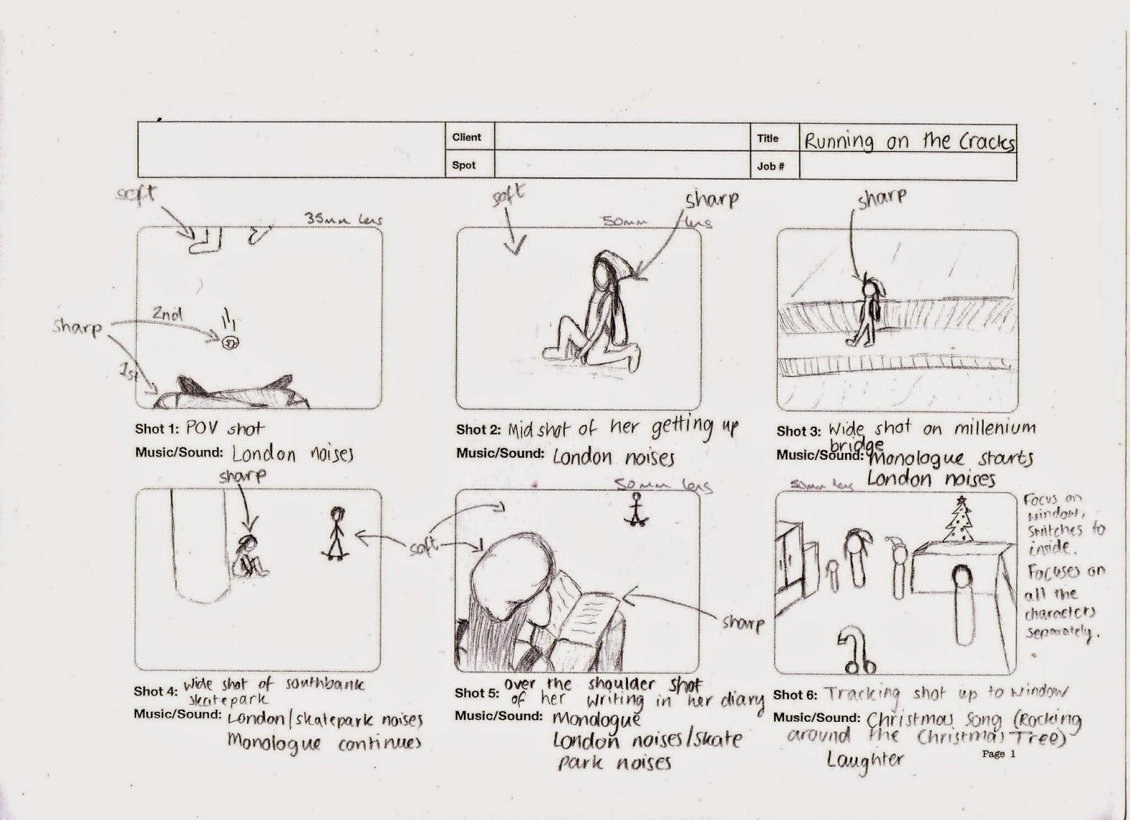 Onaisah's AS Media Blog: Drawing the storyboard