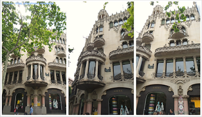 Barcelona; Conhecendo a Europa; sem guia; turismo na espanha; Passeig de Gràcia; Casa Lleó Morera.