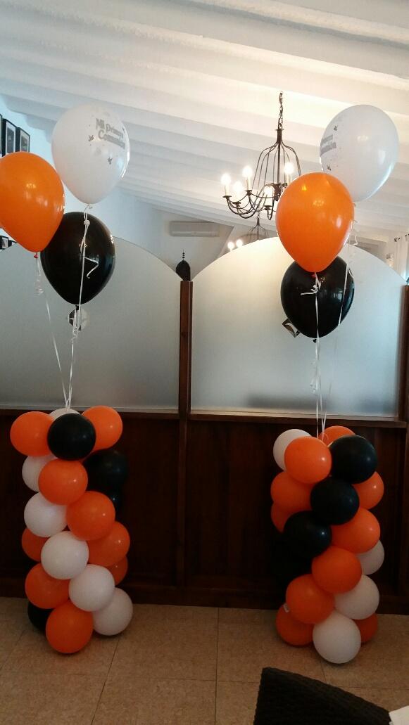 Decoraci n con globos de todo fiesta decoraciones para 1 for Decoracion globos valencia
