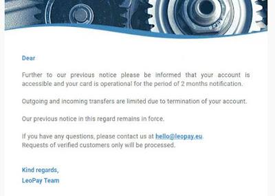 leopay libera conta temporariamente