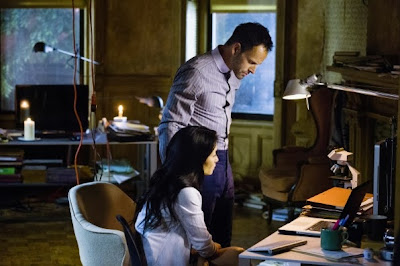 Jonny Lee Miller and Lucy Liu as Sherlock Holmes and Joan Watson in CBS Elementary Season 2 Episode 3 We are Everyone