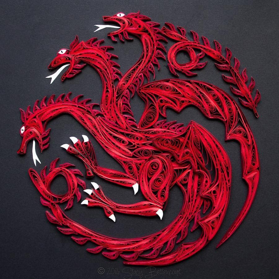 02-Targaryen-Sigil-Stacy-Bettencourt-Quilling-Animals-and-Game-of-Thrones-www-designstack-co