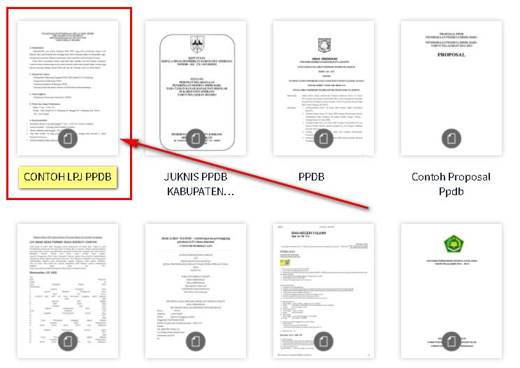 LPJ PPDB SD (Laporan Pertanggungjawaban)