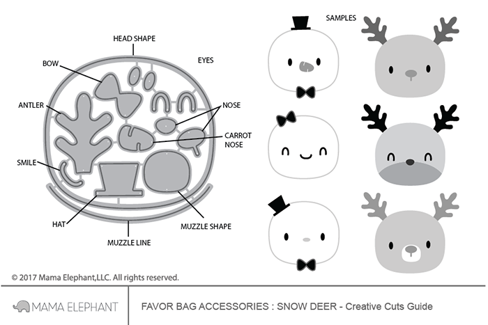 Mama Elephant Favor Bag Accessory - Snow Deer에 대한 이미지 검색결과