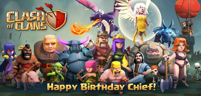clash of clans 1st birthday