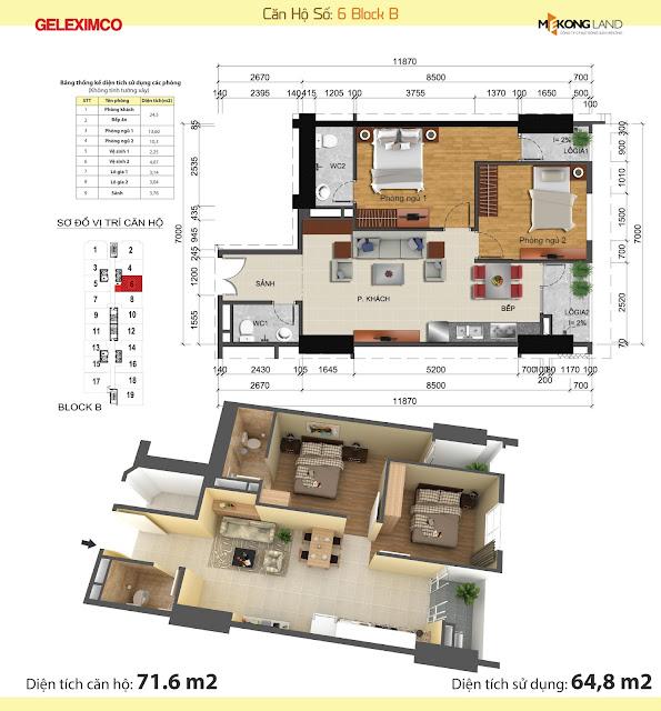 Thiết kế căn hộ Gemek Tower