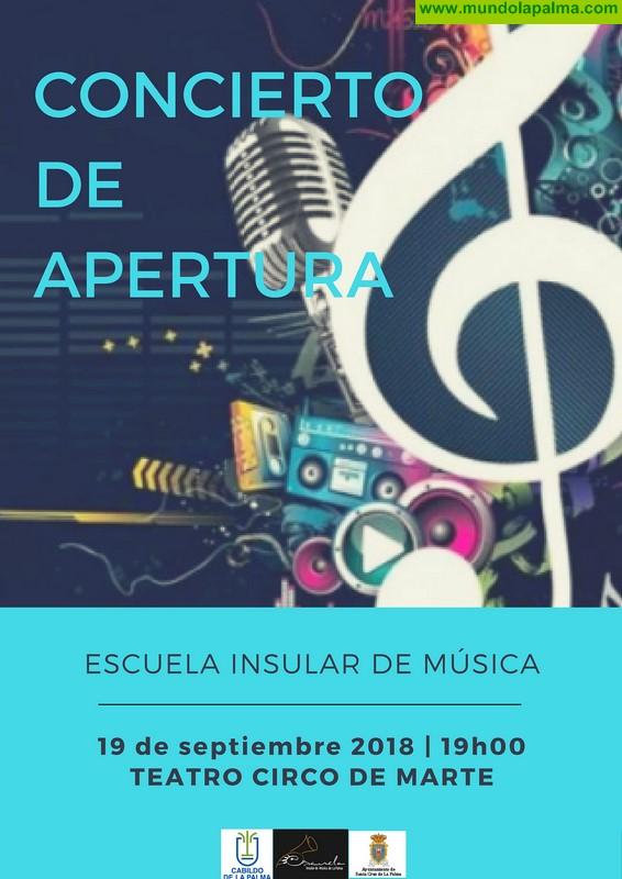 La Escuela Insular de Música de La Palma da la bienvenida al curso 2018-2019 con un concierto de apertura