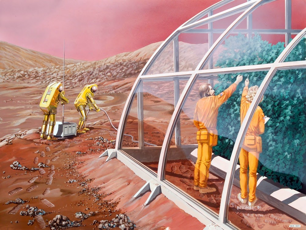 Mars greenhouse by Les Bossinas