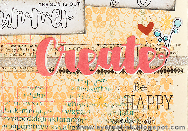 Layers of ink - Create Art Journal tutorial by Anna-Karin with My Favorite dies by Simon Says Stamp.