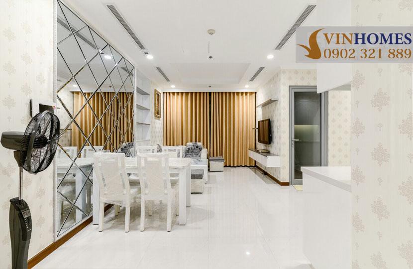 Vinhomes Landmark 1 cho thuê căn hộ chung cư 67m2  - view phòng khách