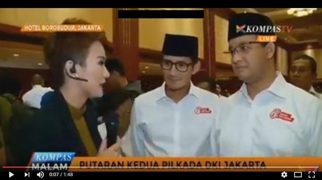 [VIDEO] Hahaha Kena Deh,Anies Baswedan Marahi KOMPASTV Karena Giring Opini Anies-Sandi Datang Terlambat