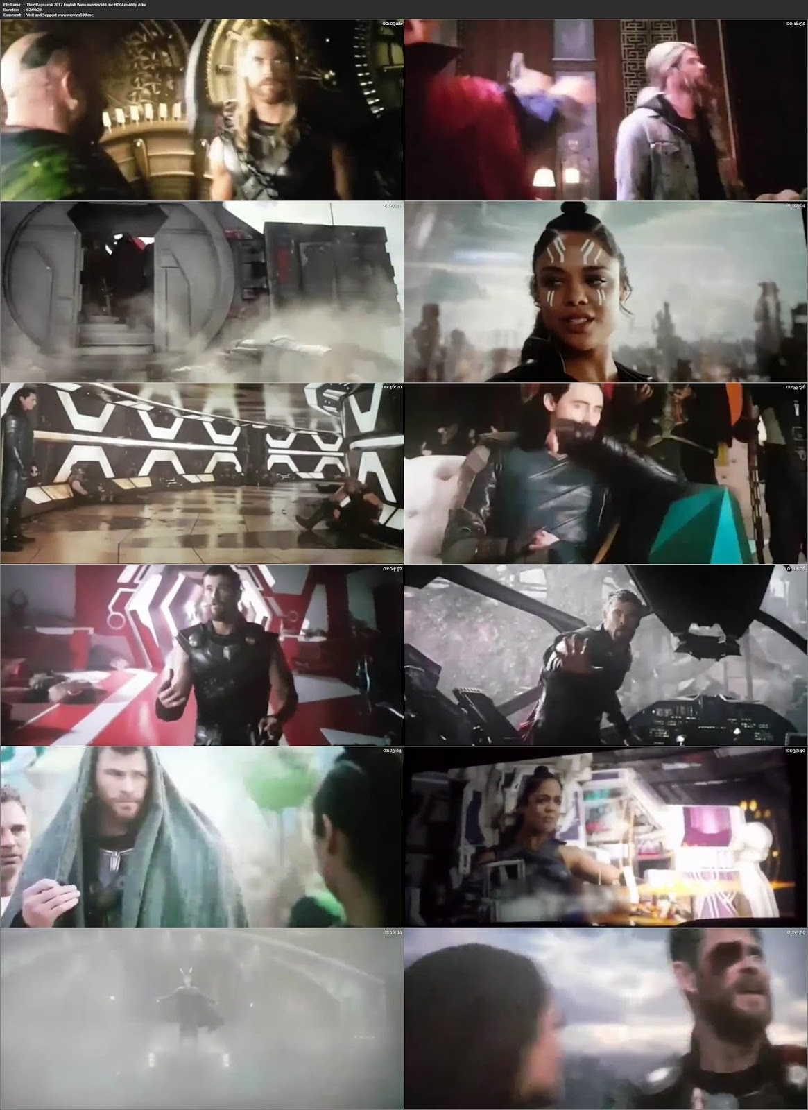 Thor Ragnarok 2017 Hollywood 300MB HDCAM 480p at movies500.site