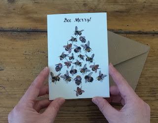 Bee Merry Christmas Card by Alice Draws The Line