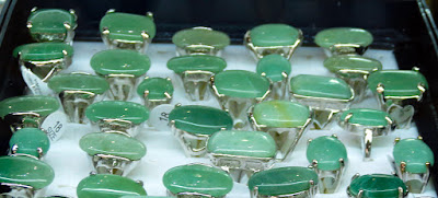 jadeite jade silver rings for men in a pretty setting
