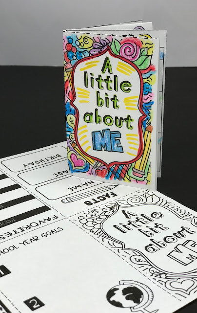 Students love this hands-on and doodle mini-book. They answer questions about themselves and then they create a doodle mini-book. It's a great first day of school activity!