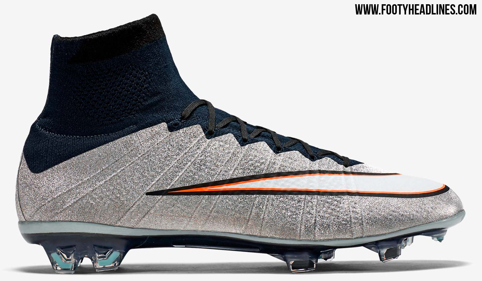 Nike Mercurial Superfly CR7 Silverware - Metallic Silver / White / Hyper  Turquoise / Black / Orange