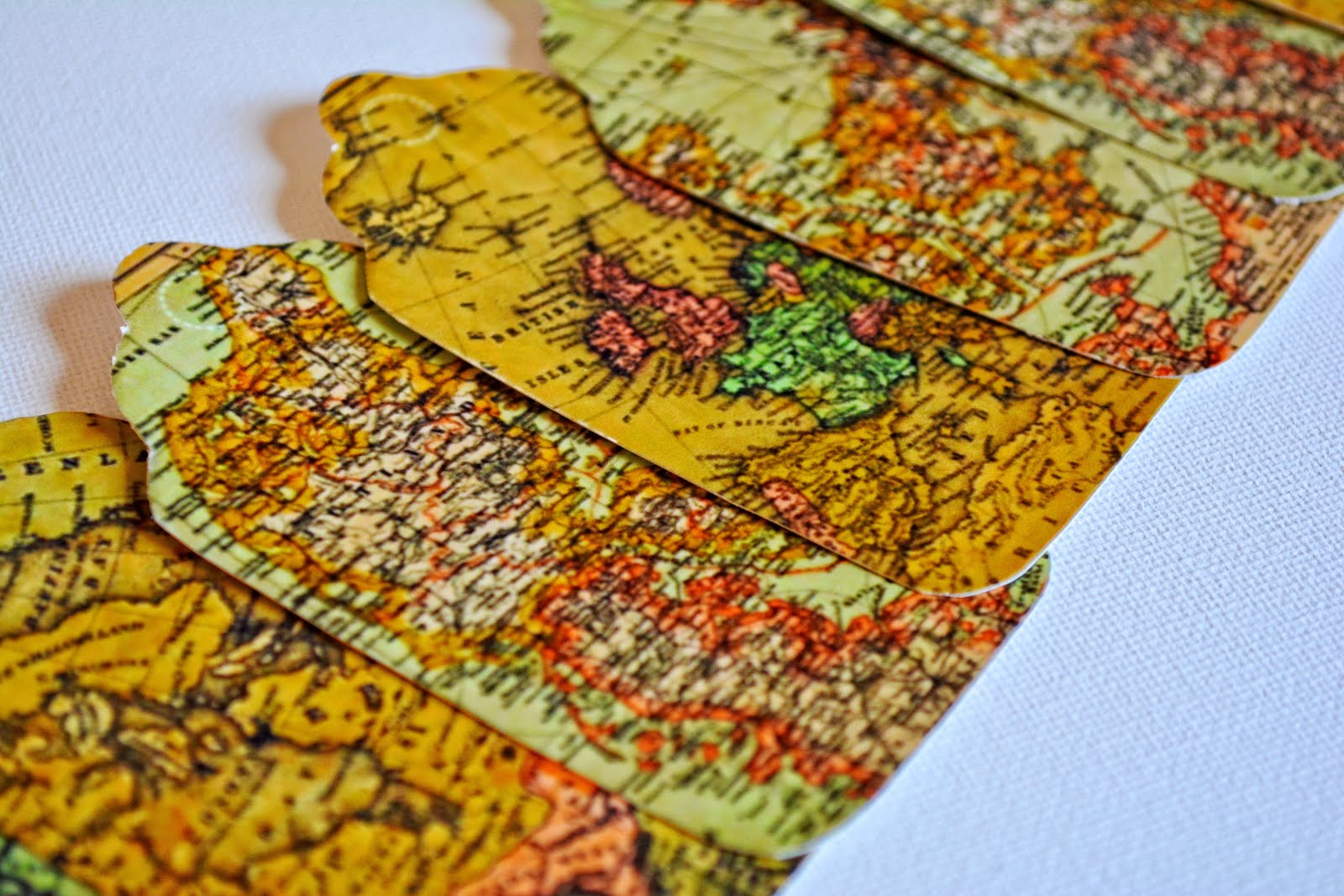 Click Here To Buy These Vintage Map Gift Tags
