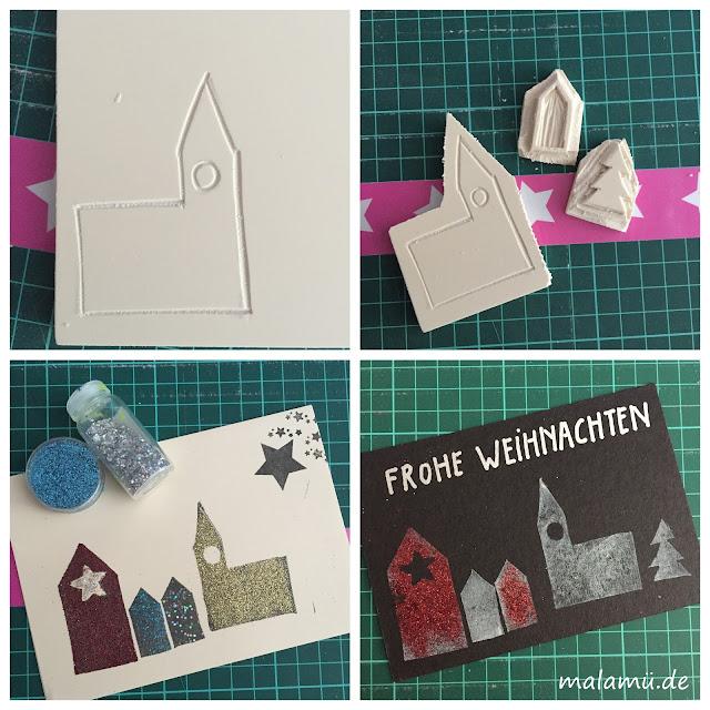 Stempelvorlage für Weihnachtskarten