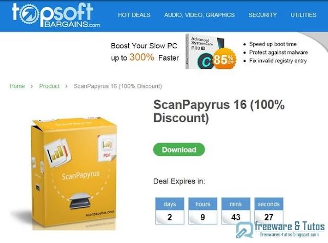 Offre promotionnelle : ScanPapyrus 16 gratuit !