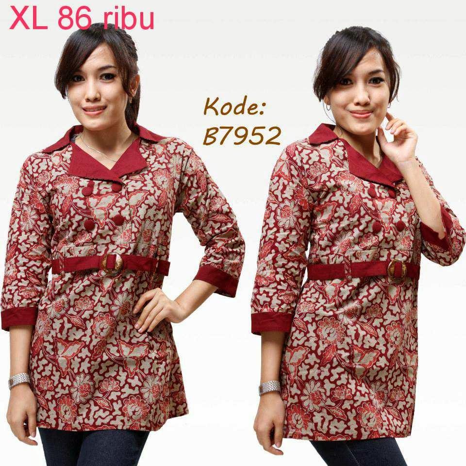 Contoh Gambar Baju Batik Modern: Contoh Model Baju Batik Untuk Kerja