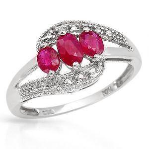 Nhẫn đá Ruby và Kim cương
