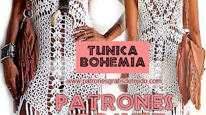 Túnica Boho con flecos / Patrones y Tutorial en video