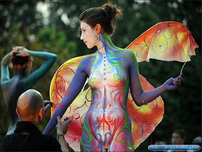 3d Colourful Wallpaper Body Painting Clothes Fog Hd Wallpaper