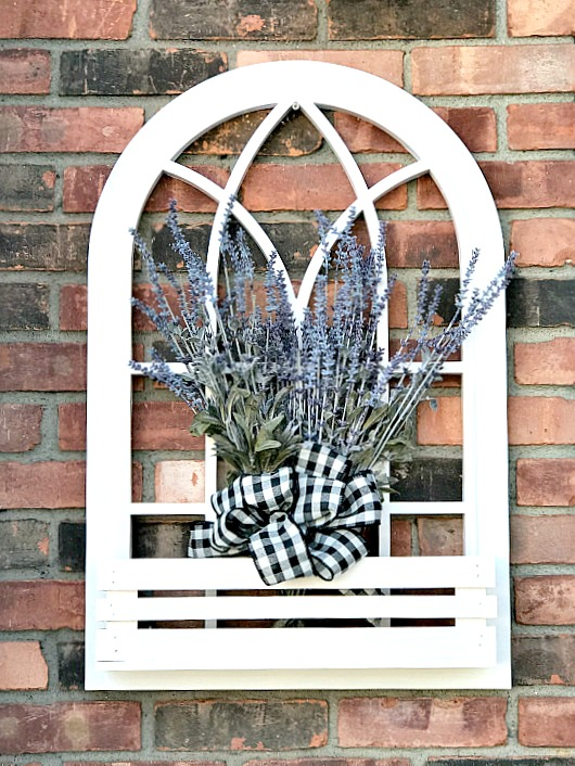 Arched window flower box