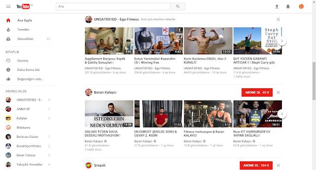 YouTube yeni tasarım