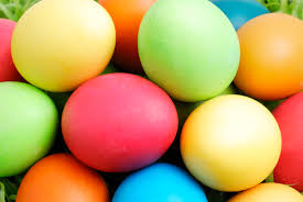 Photo of colored Easter eggs courtesy of history dot com