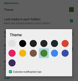 Change theme color