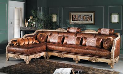 desain sofa sudut ukir
