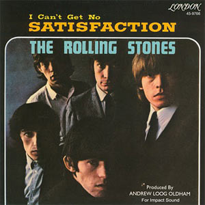 Portada del single americano del sello London de I can't get no (satisfaction) de los Rolling Stones (1965)