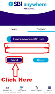 how to register sbi anywhere personal app