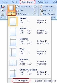 Pengaturan Margin Pada Microsoft Word