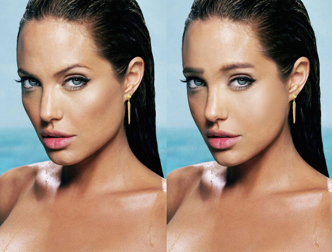 Angelina Jolie With Korean Sof Eyebrows Beauty Fashion Onehallyu