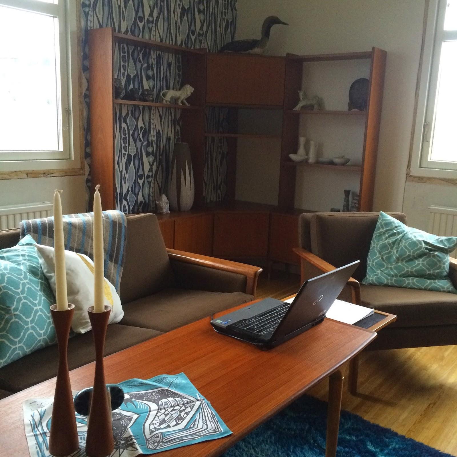 50 tals keramik: renovering av vardagsrum
