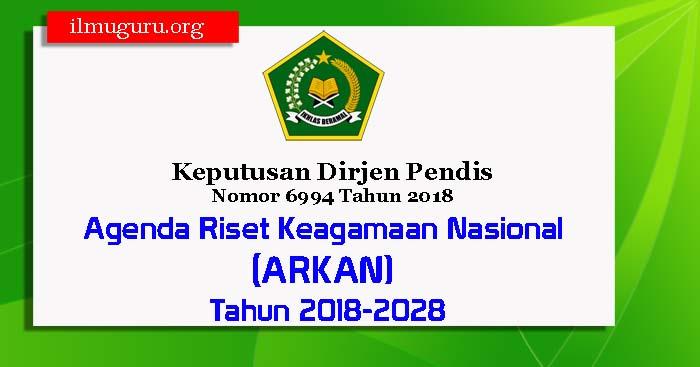 Keputusan Dirjen Pendis Nomor 6994 Tahun 2018