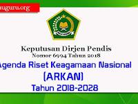 Keputusan Dirjen Pendis Nomor 6994 Tahun 2018 Tentang ARKAN 2018-2028