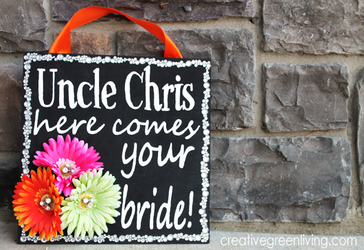 Black And Bright Wedding Here Comes Your Bride Sign Tutorial